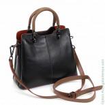 Женская кожаная сумка 66916 Черный