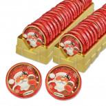 Шоколадный диск Дед Мороз 5шт