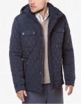 Трендовая темно-синяя куртка модель 1698