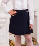 Школьная юбка-шорты для девочки (рост 128 см)
