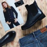 Кожаные ботинки Челси. New collection