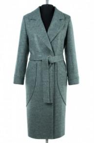 01-8052 Пальто женское демисезонное (пояс) Валяная шерсть Св
