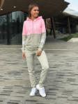 Женский костюм 0018 А серо-розовый