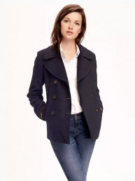 Wool-Blend Peacoat for Women