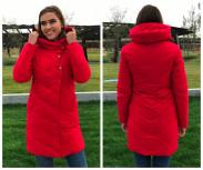 Женская куртка 6067 красная