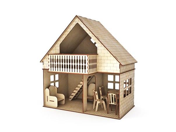 Как сделать лестницу для кукольного домика своими руками