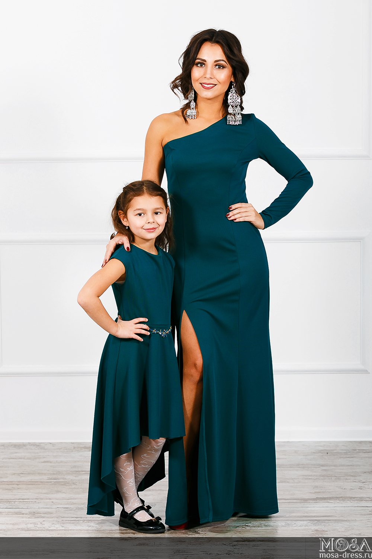Платье для мамы и дочки в одном стиле сшить 72
