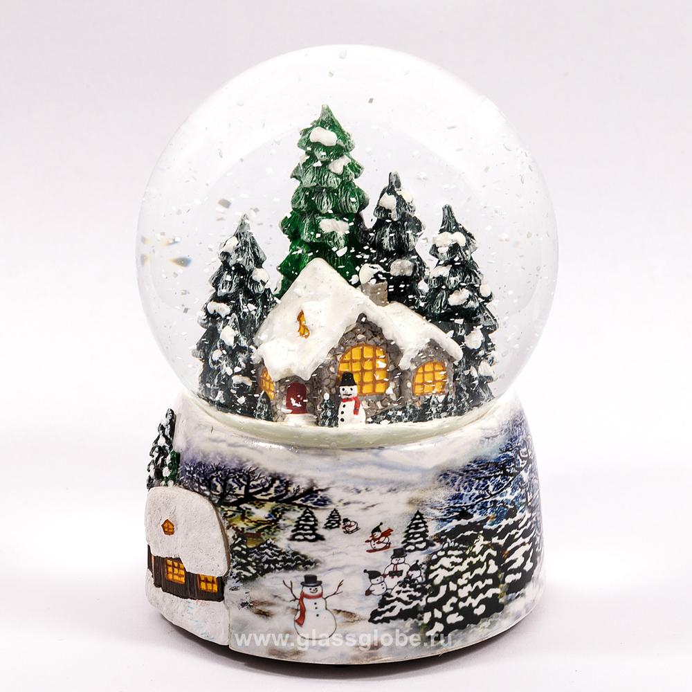 Шарик со снегом как его сделать