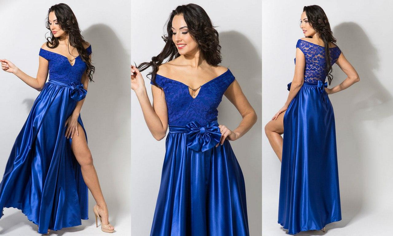 Фото платья на выпускной из атласа