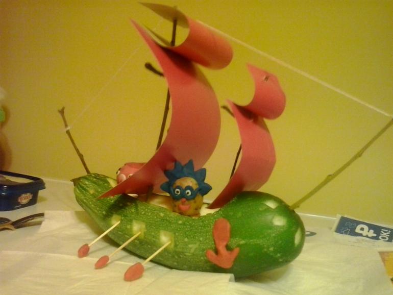 Сделать поделку из кабачка в детский сад 47