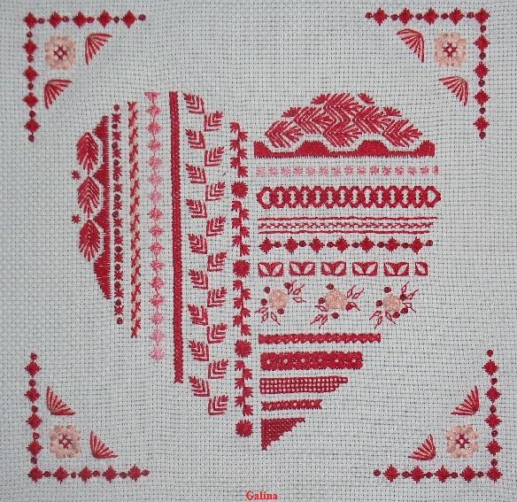 Схема для вышивки шовчиковая 266