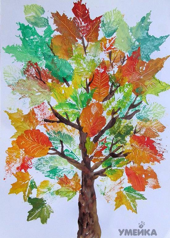 Рисуем лес фото
