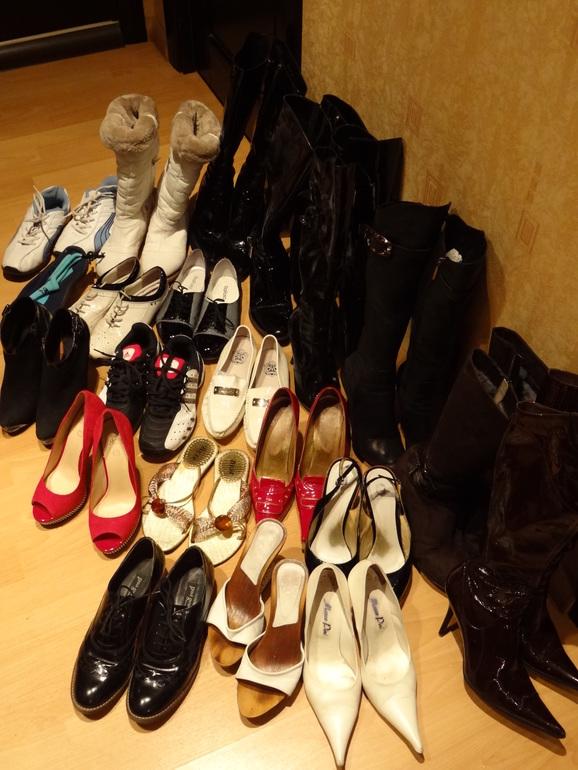 Генеральная уборка!!! Сабо, туфли, ботильоны, сапоги, кроссовки...У меня 37,5, ношу 38р-р