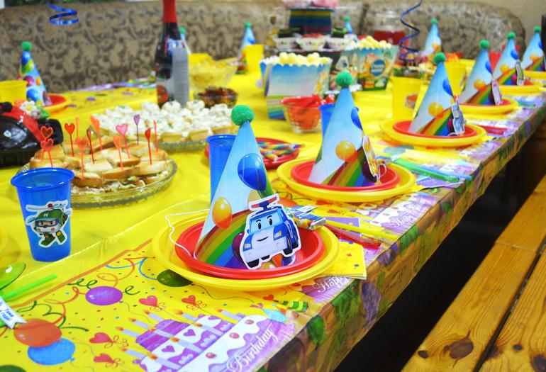 День рождения в стиле поли робокар своими руками 8