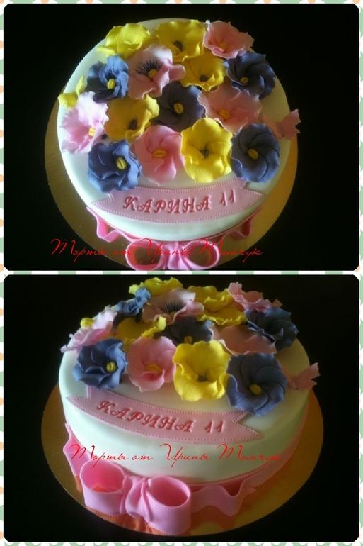 Торт с цветочками 2,5 кг