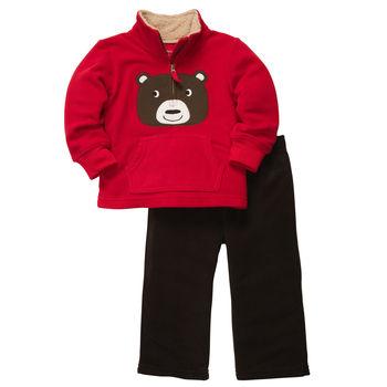Carters комплект из флиса «Медвежонок на красном»
