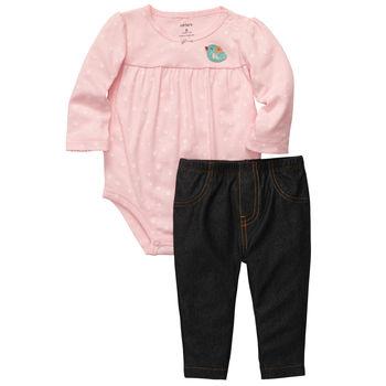 Carters набор боди с нежной вышивкой+брюки