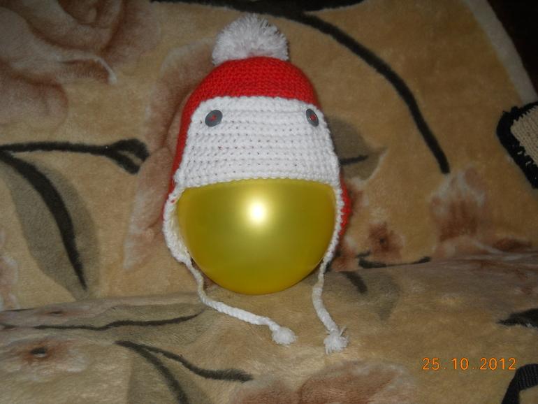 Первая зимняя шапка сынишки