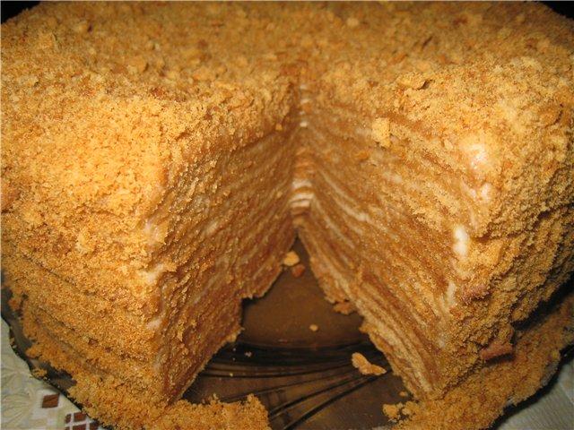 Рецепт рыжика медовый с заварным кремом пошаговый рецепт с