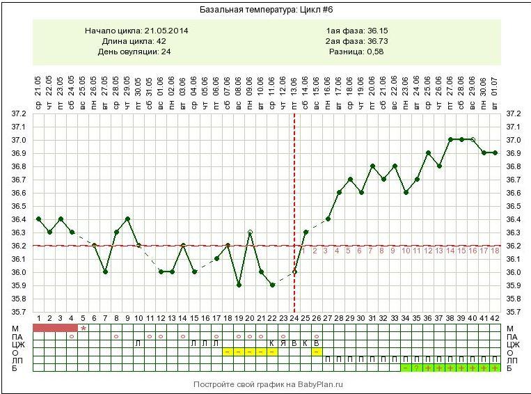 Ректальная температура у беременных в 1 триместре 98