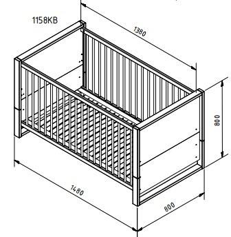 При этом, размер детской кроватки для новорожденных по стандарту соответствует 90 на 50 сантиметров.
