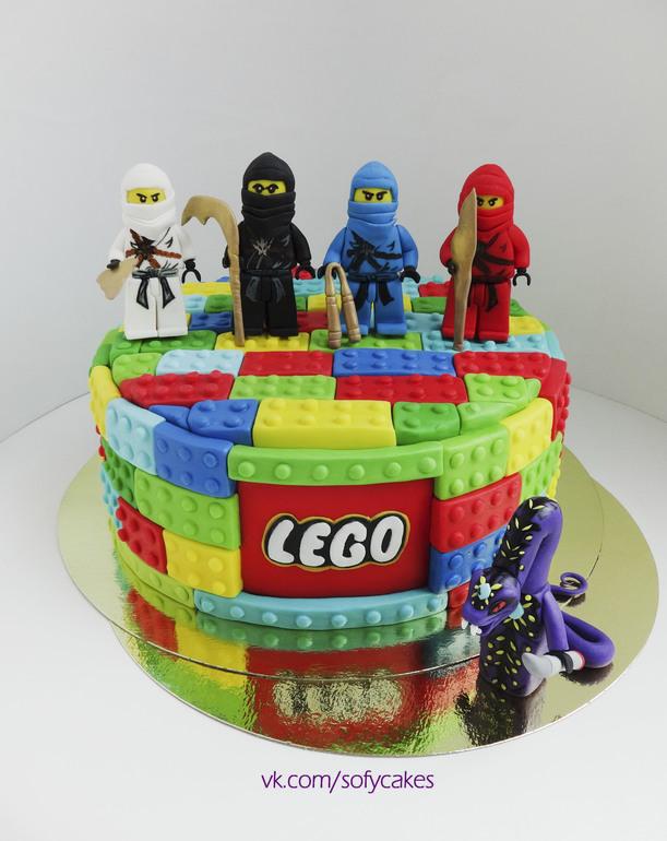 фото лего торт