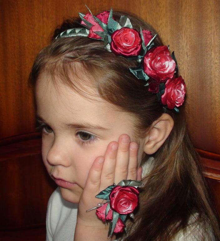 Ободок для волос детский своими руками