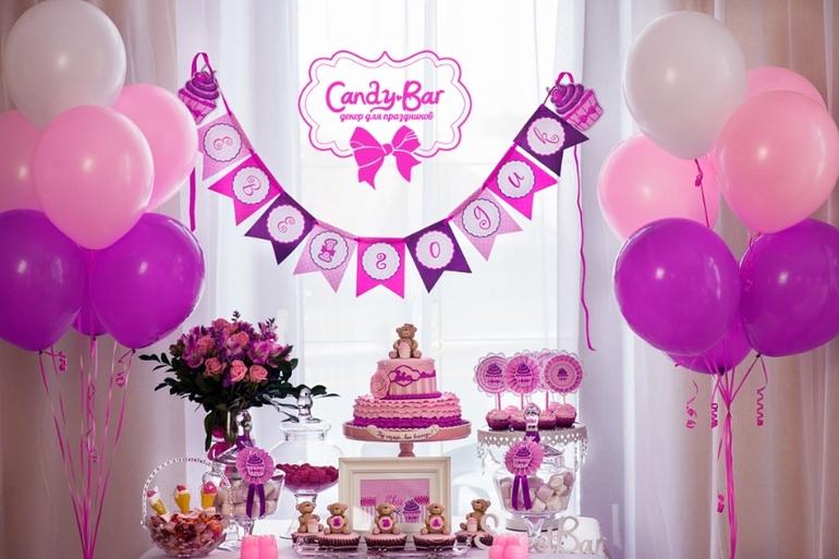 Оформление детского день рождения для девочек своими руками