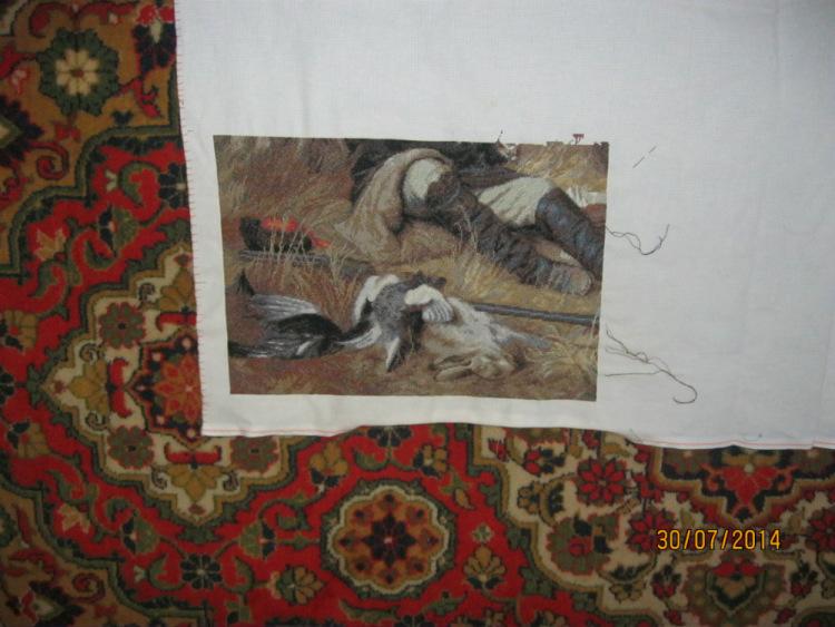 Вышивка золотое руно охотники на привале