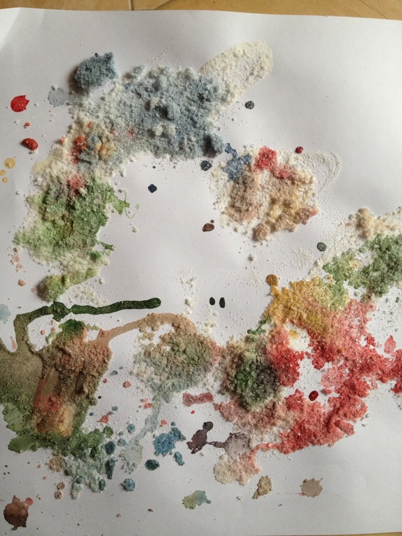 Художка, рисование солью