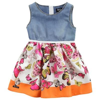 Детское платье из джинс