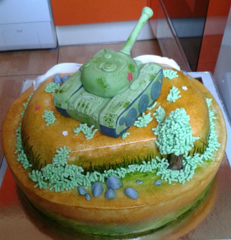 Торт танк своими руками без мастики фото 610