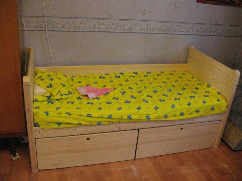Детская кровать из щитов своими руками