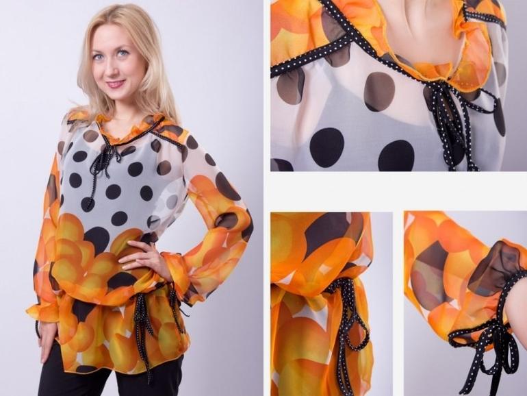 Блузка с декольте в Волгограде