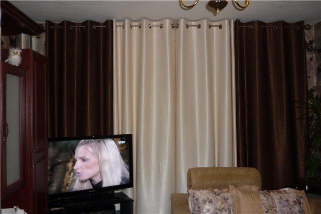 шторы для спальни двухцветные фото