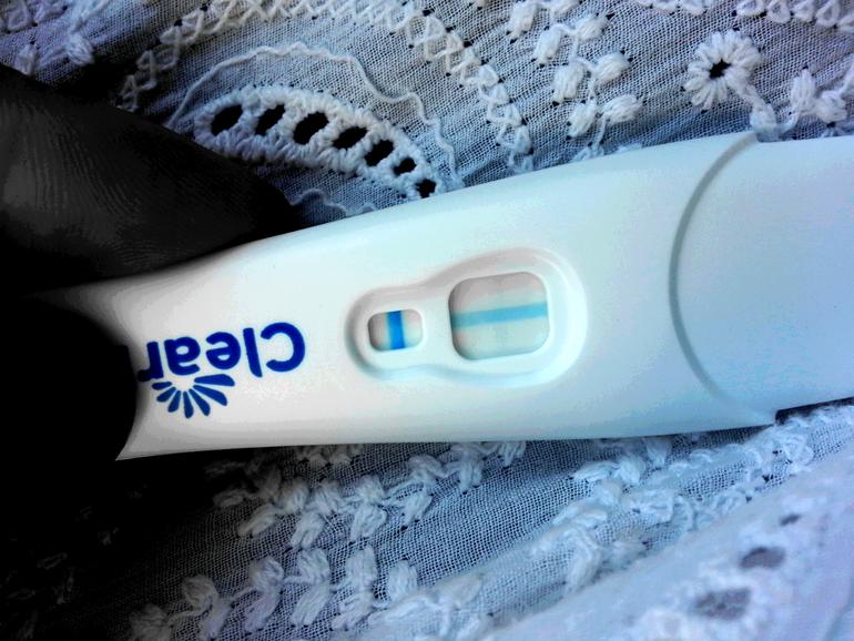 Клеарблю тест на беременность фото положительного результата