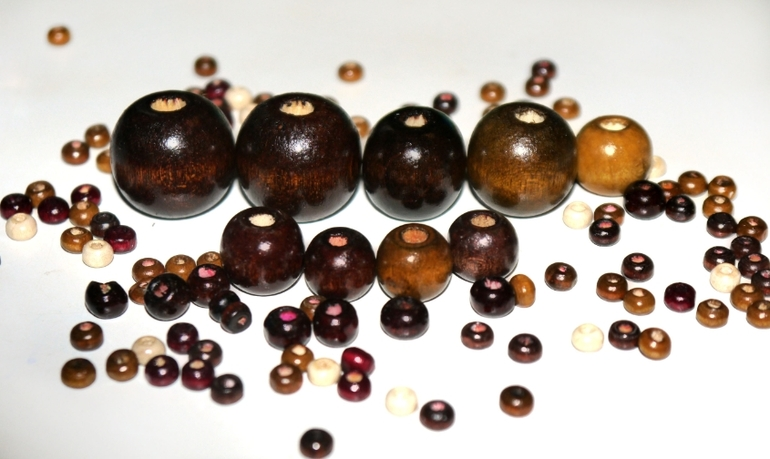 Деревянные бусины от 10 копеек за 1 шт.