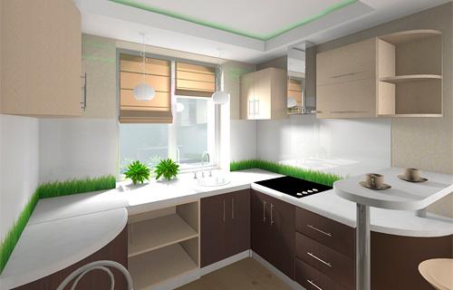 Дизайны кухни с мойкой в окне