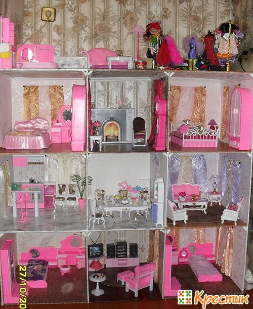 Фото дом для кукол барби своими руками
