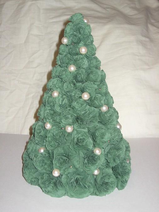 Как своими руками сделать новогоднюю елку из салфеток