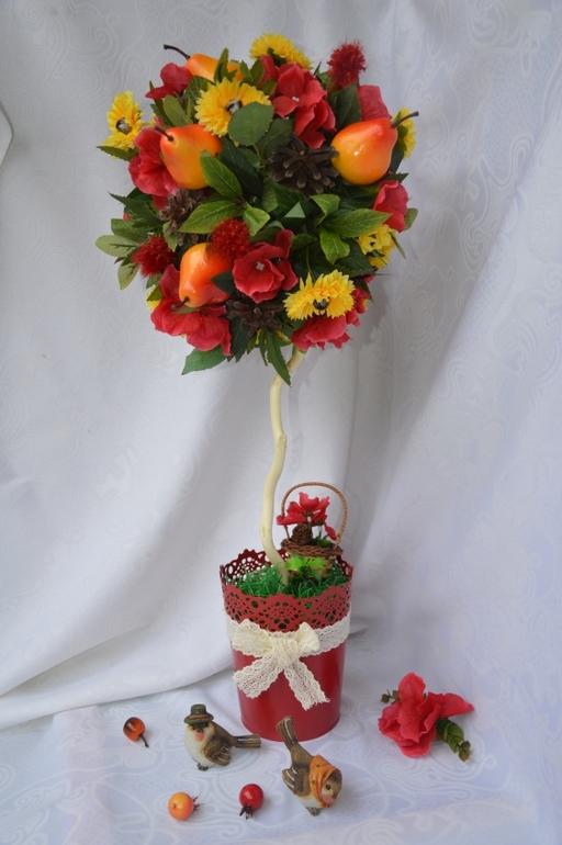 Осенний топиарий своими руками фото 84