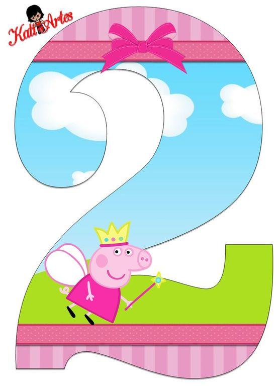 Шаблон цифра 2 на день рождения