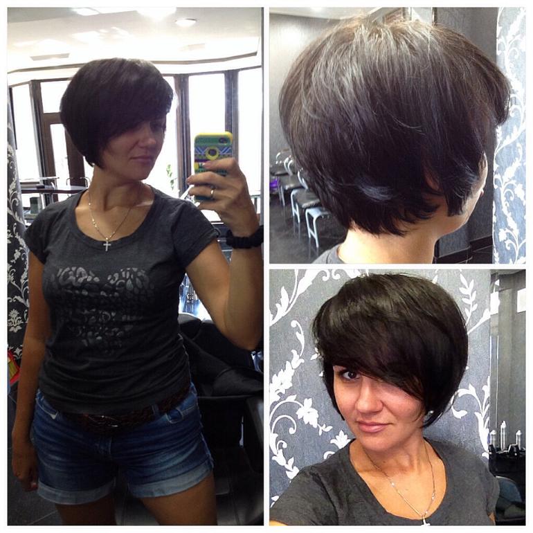 Как подстричь женщину с короткими волосами в домашних условиях 405