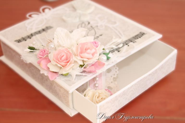 На свадьбу подарок коробочка 897