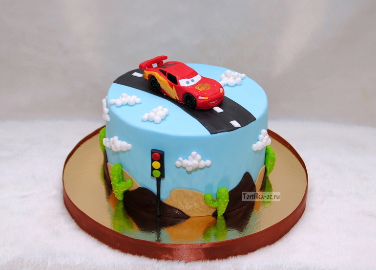 детский торт маккуин фото