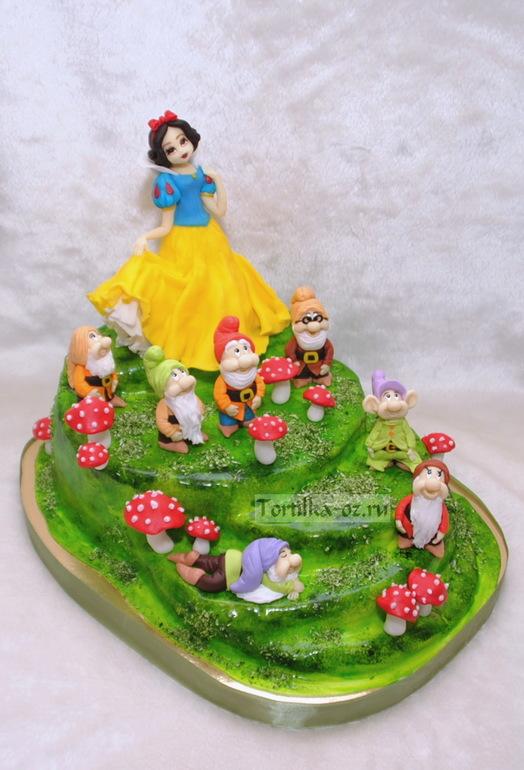 Торт белоснежка и гномы фото