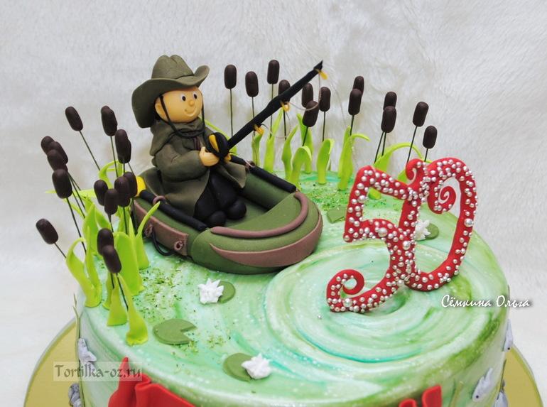 торт цифра рыбаку