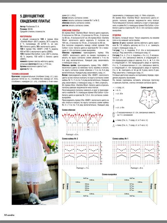 Журнал вязание крючком платья для