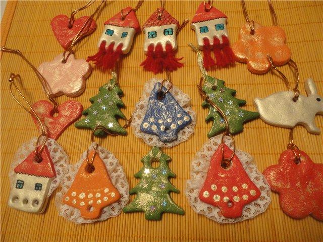 Новогодние игрушки своими руками фото из соленого теста