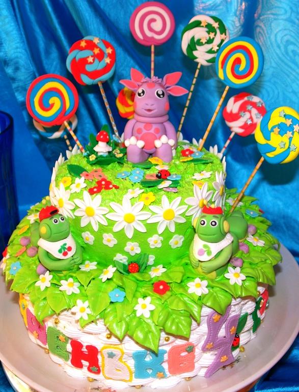 торт с лунтиком из мастики фото